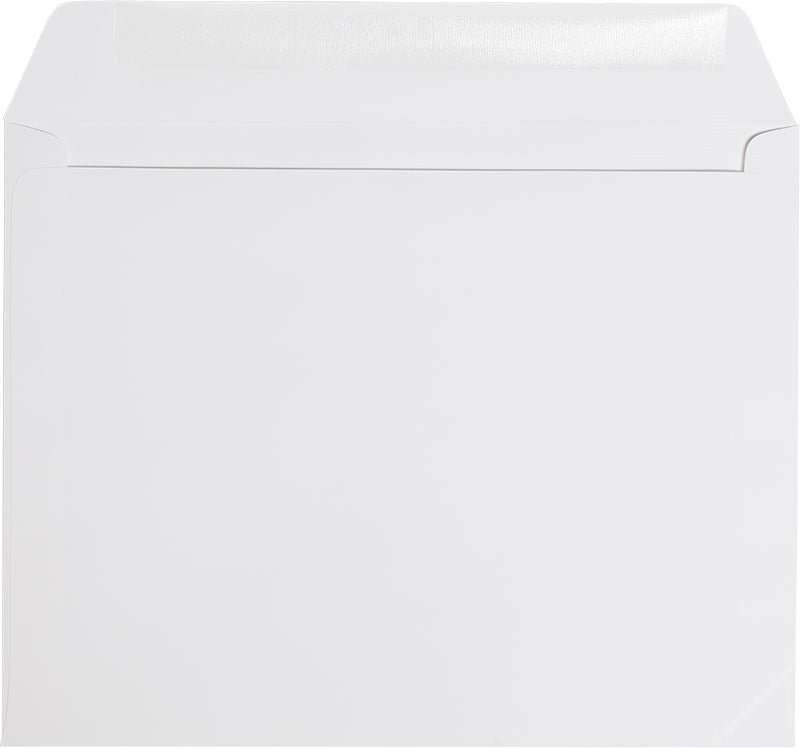 "9"" x 11 1/2"" Booklet Classic White Solid Envelopes - Paperandmore.com"