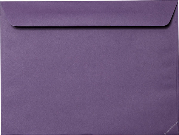 "9"" x 12"" Booklet Dark Purple Solid Envelopes - Paperandmore.com"