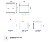 A7 Pocket Inserts Blank Card