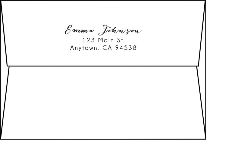 A-8 Square Flap Envelopes - Address Printing - Paperandmore.com