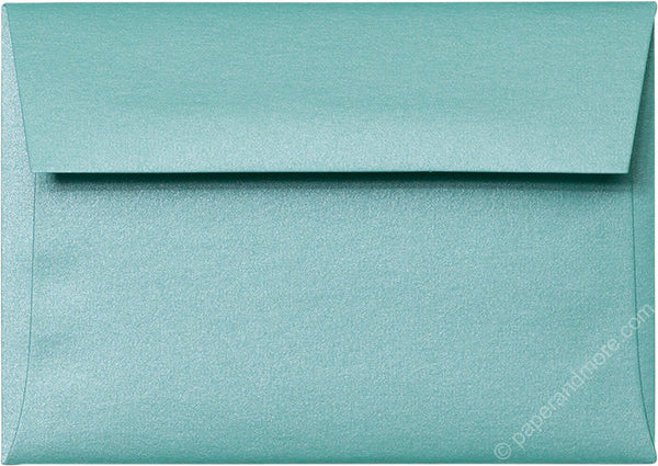 A-1 (4 Bar) Aqua Lagoon Metallic Envelopes (3 5/8