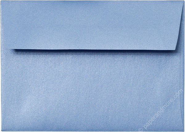 "A-1 (4 Bar) Blue Vista Metallic Envelopes (3 5/8"" x 5 1/8"") - Paperandmore.com"