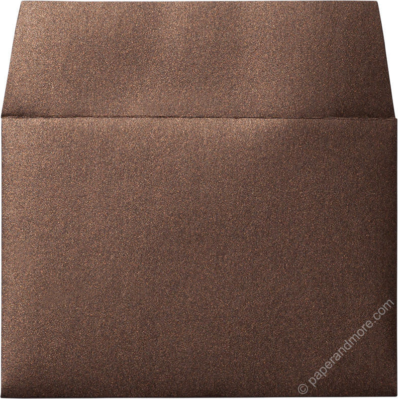 "A-1 (4 Bar) Bronze Brown Metallic Envelopes (3 5/8"" x 5 1/8"") - Paperandmore.com"