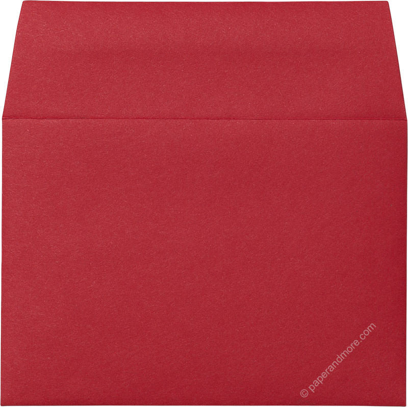 "A-1 (4 Bar) Cherry Red Solid Envelopes (3 5/8"" x 5 1/8"") - Paperandmore.com"