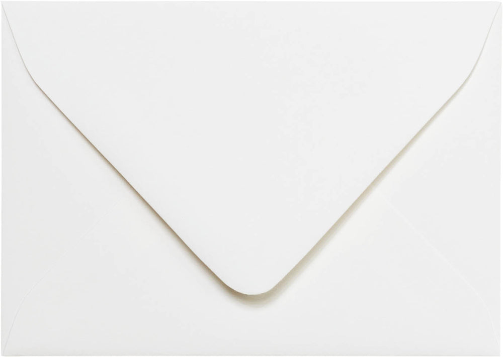 "A-1 (4 Bar) Classic White Solid Euro Flap Envelopes (3 5/8"" x 5 1/8"")"