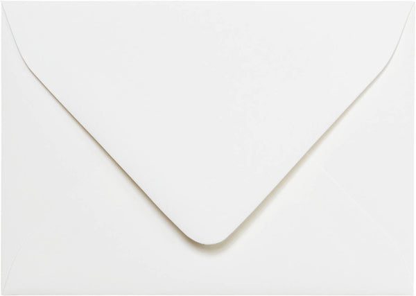 "A-1 (4 Bar) Classic White Solid Euro Flap Envelopes (3 5/8"" x 5 1/8"") - Paperandmore.com"