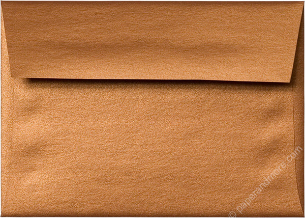 "A-1 (4 Bar) Copper Metallic Envelopes (3 5/8"" x 5 1/8"") - Paperandmore.com"