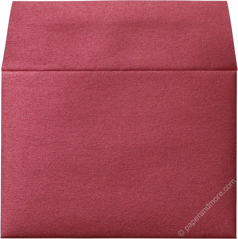 "A-1 (4 Bar) Crimson Red Metallic Envelopes (3 5/8"" x 5 1/8"")"