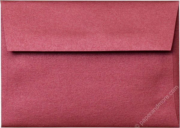 "A-1 (4 Bar) Crimson Red Metallic Envelopes (3 5/8"" x 5 1/8"") - Paperandmore.com"