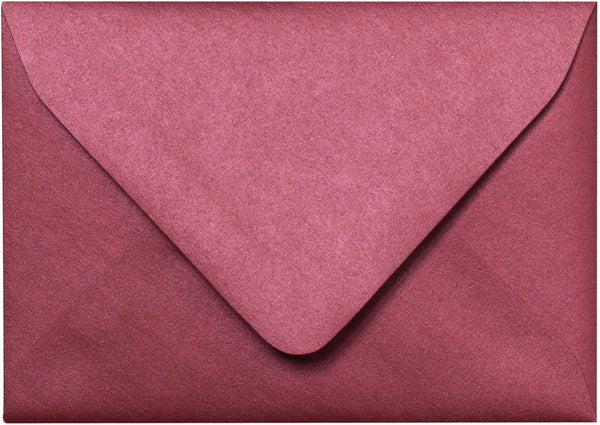 "A-1 (4 Bar) Crimson Red Metallic Euro Flap Envelopes (3 5/8"" x 5 1/8"") - Paperandmore.com"