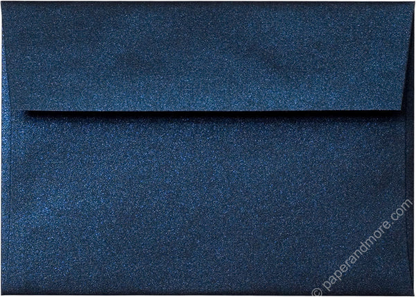 "A-1 (4 Bar) Dark Blue Metallic Envelopes (3 5/8"" x 5 1/8"") - Paperandmore.com"