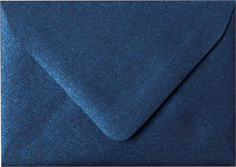 "A-1 (RSVP) Dark Blue Metallic Euro Flap Envelopes (3 5/8"" x 5 1/8"") - Paperandmore.com"