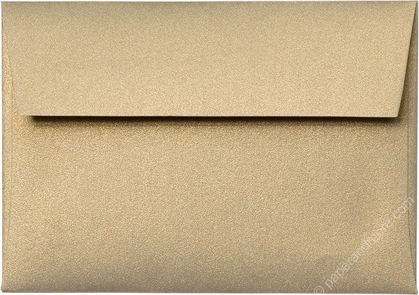 "A-1 (4 Bar) Gold Leaf Metallic Envelopes (3 5/8"" x 5 1/8"") - Paperandmore.com"