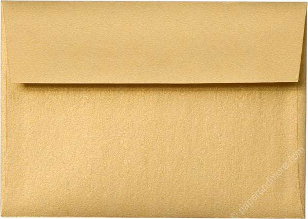 "A-1 (RSVP) Gold Metallic Envelopes (3 5/8"" x 5 1/8"") - Paperandmore.com"