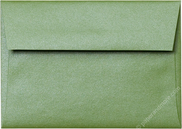 "A-1 (4 Bar) Green Fairway Metallic Envelopes (3 5/8"" x 5 1/8"") - Paperandmore.com"