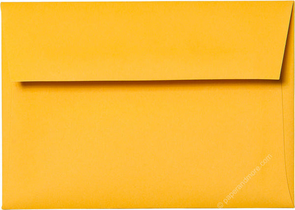 "A-1 (4 Bar) Lemon Yellow Solid Envelopes (3 5/8"" x 5 1/8"") - Paperandmore.com"