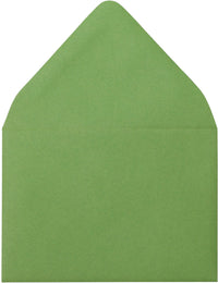 "A-1 (4 Bar) Meadow Green Solid Euro Flap Envelopes (3 5/8"" x 5 1/8"") - Paperandmore.com"