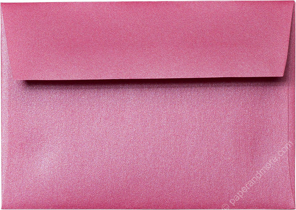"A-1 (4 Bar) Pink Azalea Metallic Envelopes (3 5/8"" x 5 1/8"") - Paperandmore.com"
