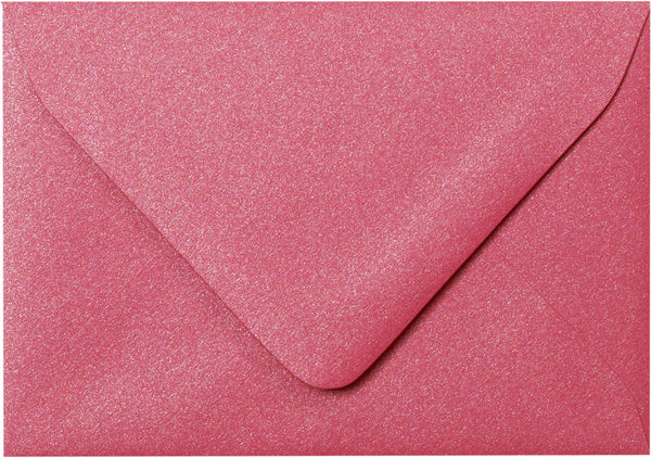 "A-1 (4 Bar) Pink Azalea Metallic Euro Flap Envelopes (3 5/8"" x 5 1/8"") - Paperandmore.com"