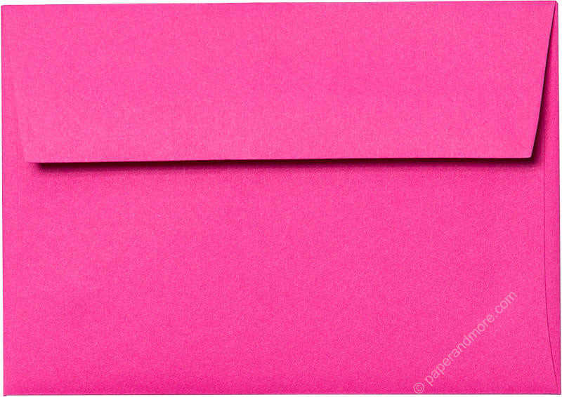 "A-1 (4 Bar) Razzle Pink Solid Envelopes (3 5/8"" x 5 1/8"") - Paperandmore.com"
