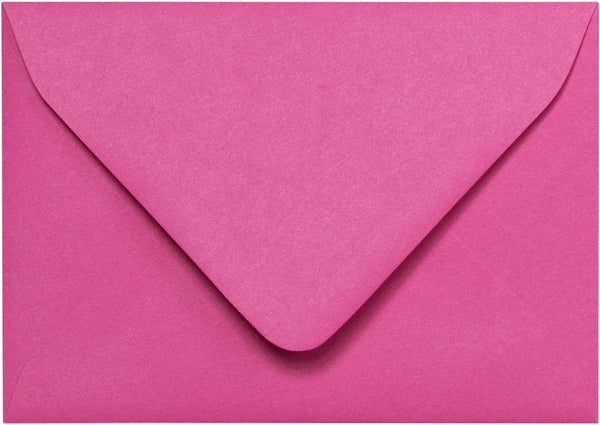 "A-1 (4 Bar) Razzle Pink Solid Euro Flap Envelopes (3 5/8"" x 5 1/8"") - Paperandmore.com"