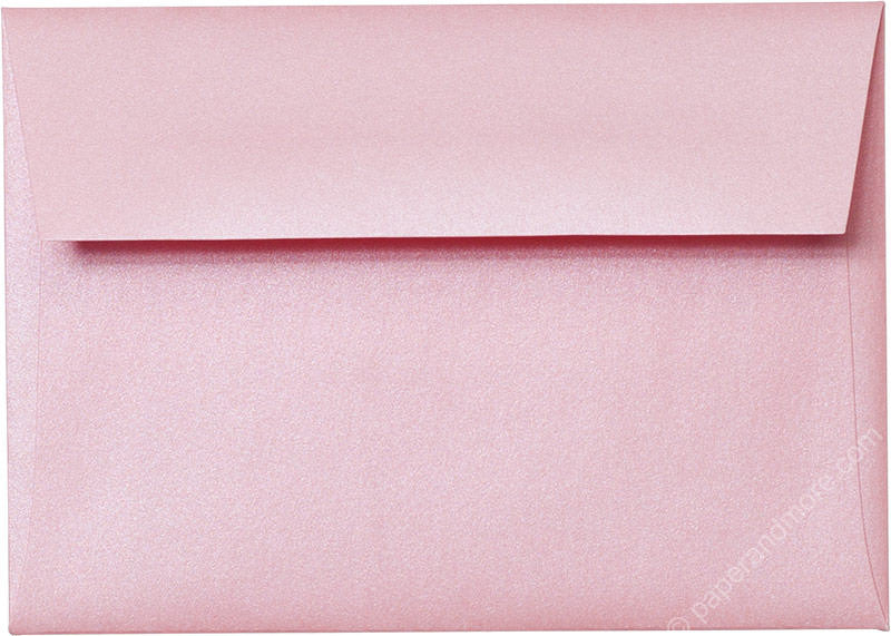 "A-1 (4 Bar) Rose Pink Metallic Envelopes (3 5/8"" x 5 1/8"")"