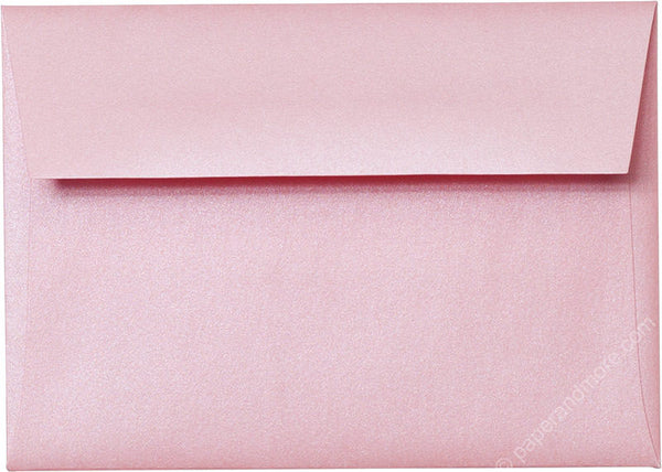 A-1 (4 Bar) Rose Pink Metallic Envelopes (3 5/8