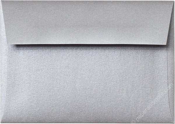 "A-1 (4 Bar) Silver Metallic Envelopes (3 5/8"" x 5 1/8"") - Paperandmore.com"