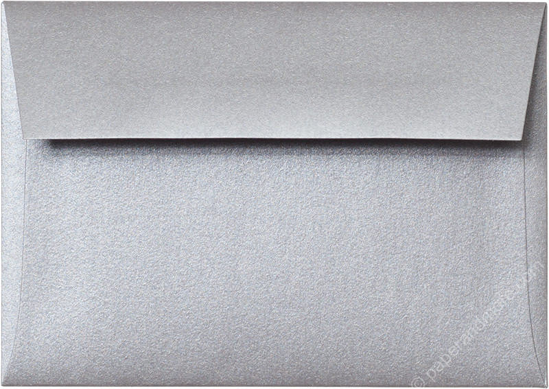 "A-1 (RSVP) Silver Metallic Envelopes (3 5/8"" x 5 1/8"") - Paperandmore.com"