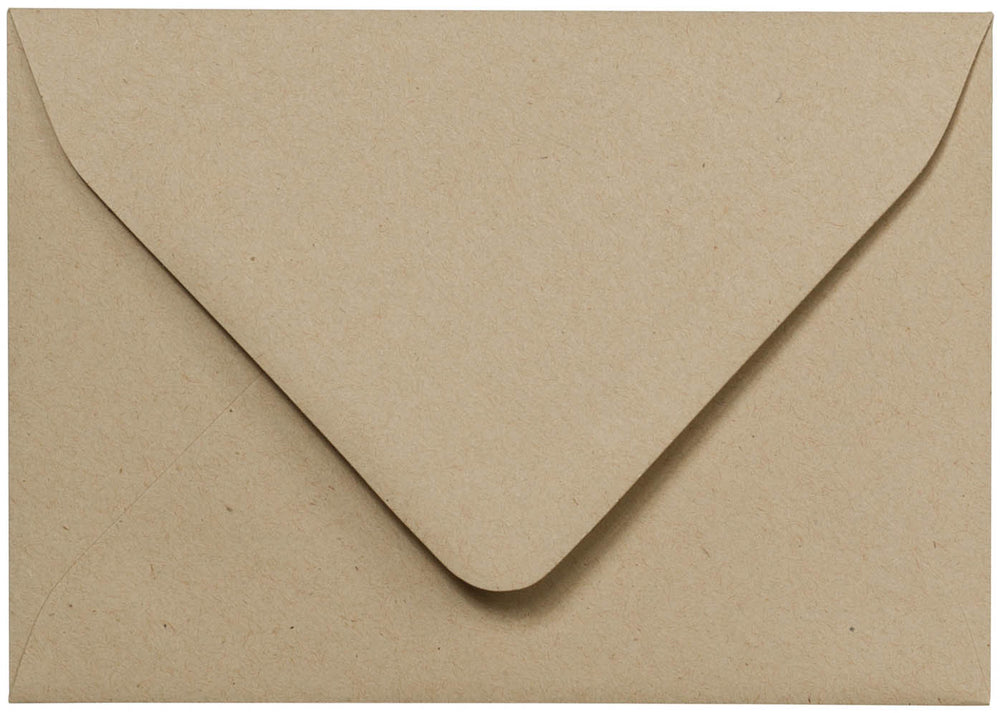 "A-1 (4 Bar) Taupe Brown Fiber Recycled Euro Flap Envelopes (3 5/8"" x 5 1/8"")"
