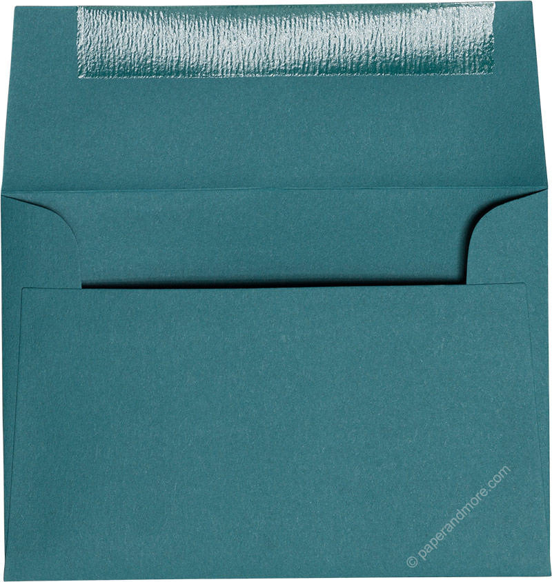 "A-1 (4 Bar) Teal Solid Envelopes (3 5/8"" x 5 1/8"") - Paperandmore.com"