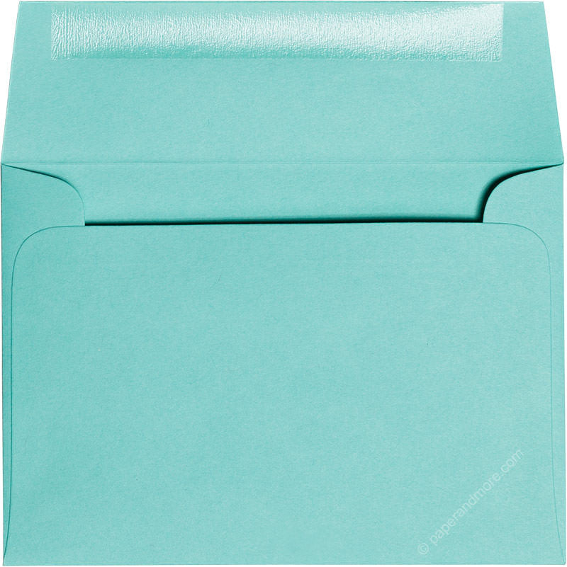 "A-1 (4 Bar) Tiffany Blue Solid Envelopes (3 5/8"" x 5 1/8"")"