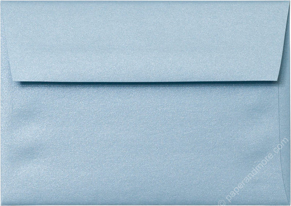 "A-1 (4 Bar) Topaz Blue Metallic Envelopes (3 5/8"" x 5 1/8"") - Paperandmore.com"