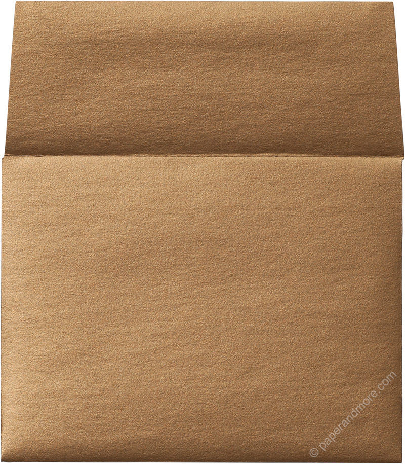 "A-9 Antique Gold Metallic Envelopes (5 3/4"" x 8 3/4"") - Paperandmore.com"