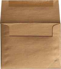 "A-9 Antique Gold Metallic Envelopes (5 3/4"" x 8 3/4"")"