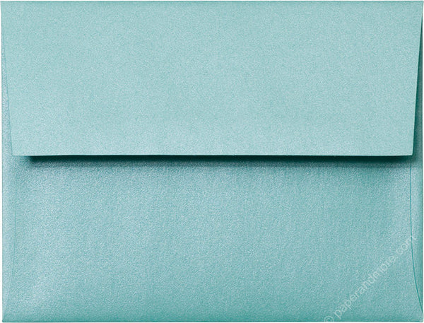 A-2 Aqua Lagoon Metallic Envelopes (4 3/8