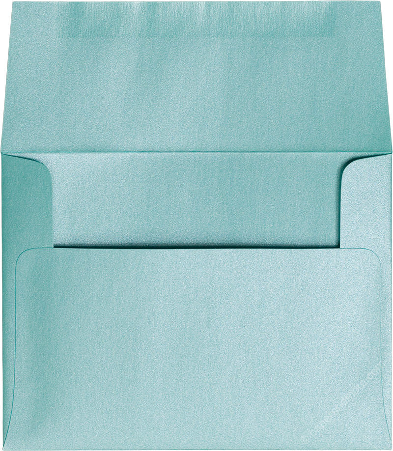 "A-2 Aqua Lagoon Metallic Envelopes (4 3/8"" x 5 3/4"") - Paperandmore.com"