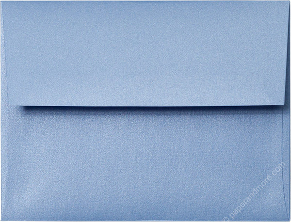 "A-2 Blue Vista Metallic Envelopes (4 3/8"" x 5 3/4"") - Paperandmore.com"