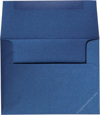 "A-2 Blueprint Blue Metallic Envelopes (4 3/8"" x 5 3/4"") - Paperandmore.com"