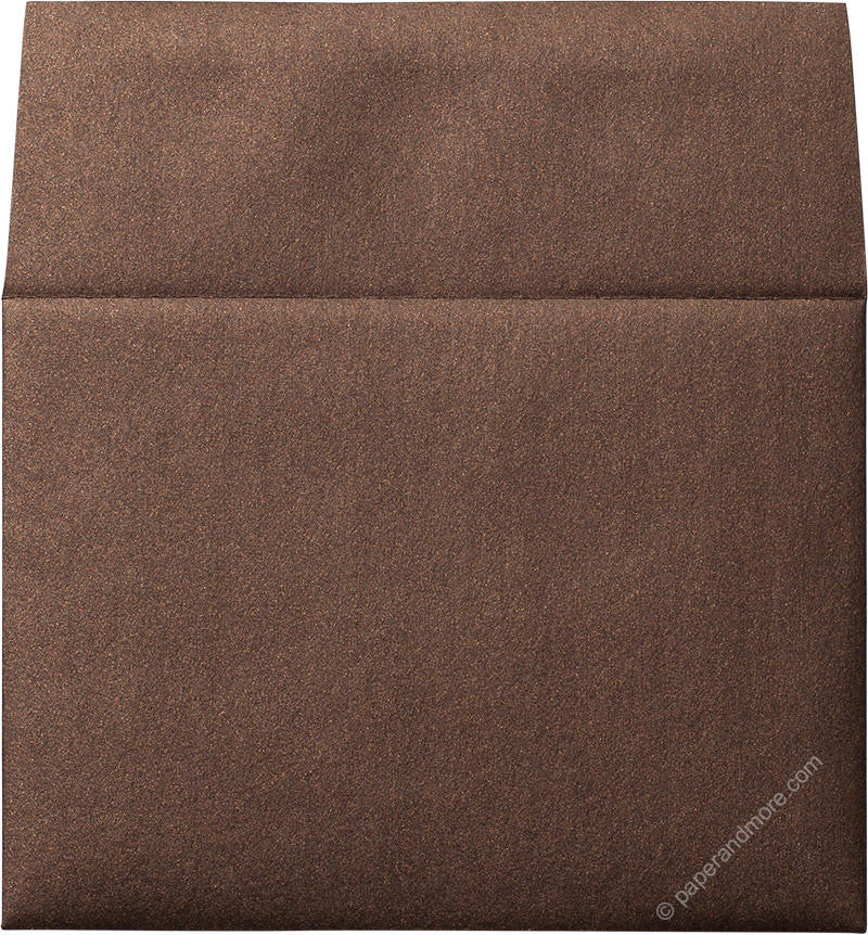 "A-2 Bronze Brown Metallic Envelopes (4 3/8"" x 5 3/4"") - Paperandmore.com"