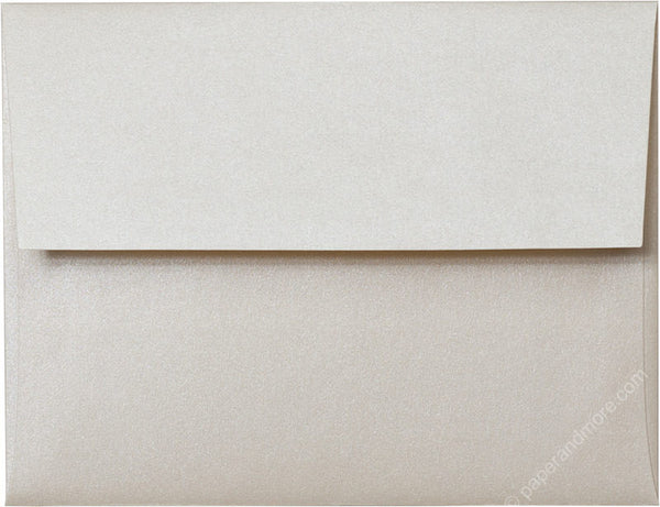 "A-2 Champagne Cream Metallic Envelopes (4 3/8"" x 5 3/4"") - Paperandmore.com"