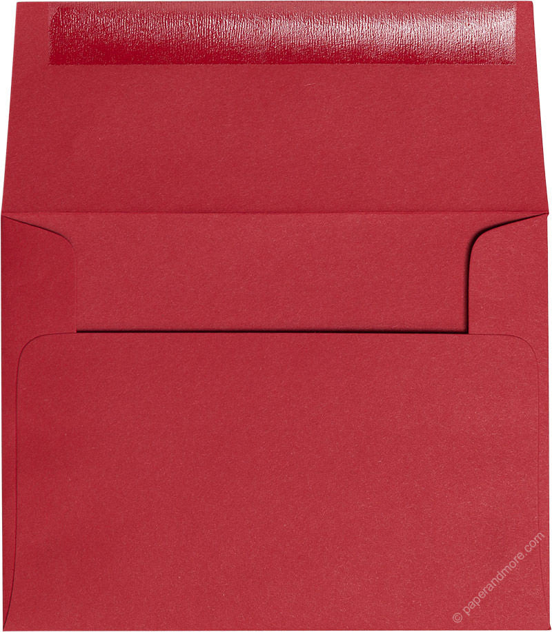 "A-2 Cherry Red Solid Envelopes (4 3/8"" x 5 3/4"")"