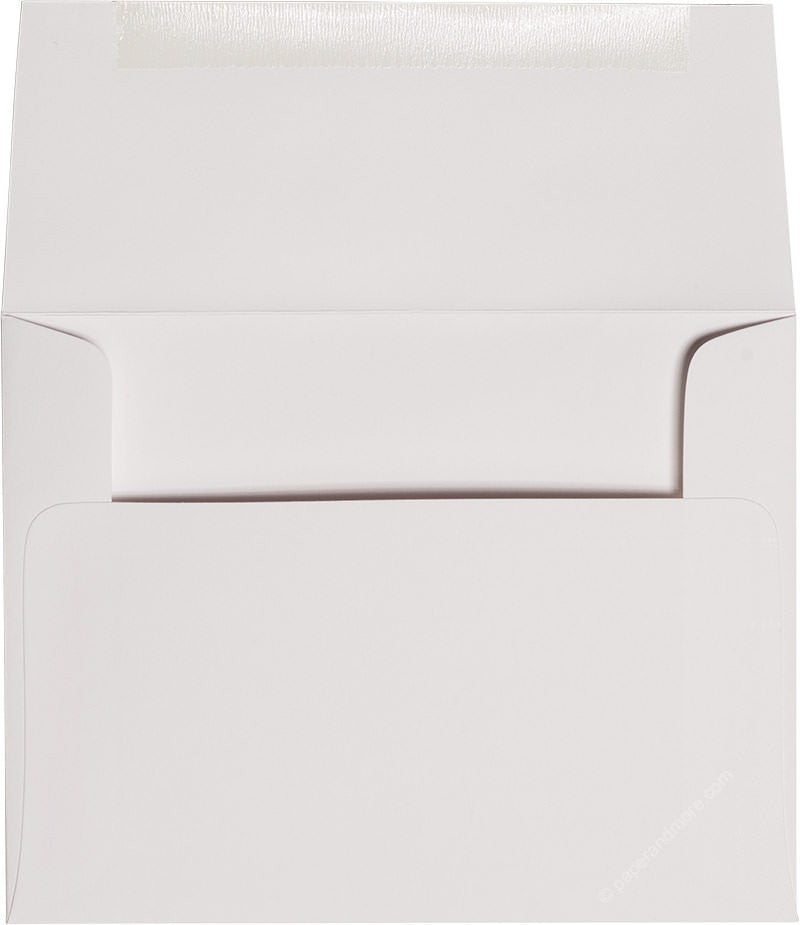 "A-2 Classic White Solid Envelopes (4 3/8"" x 5 3/4"") - Paperandmore.com"