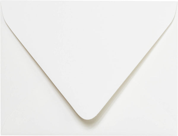 "A-2 Classic White Solid Euro Flap Envelopes (4 3/8"" x 5 3/4"") - Paperandmore.com"
