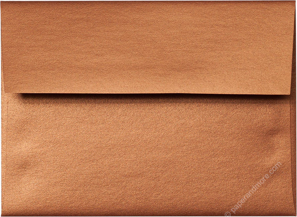 "A-2 Copper Metallic Envelopes (4 3/8"" x 5 3/4"") - Paperandmore.com"