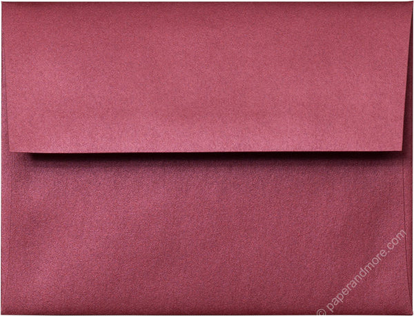 "A-2 Crimson Red Metallic Envelopes (4 3/8"" x 5 3/4"") - Paperandmore.com"