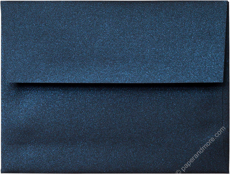 "A-2 Dark Blue Metallic Envelopes (4 3/8"" x 5 3/4"") - Paperandmore.com"