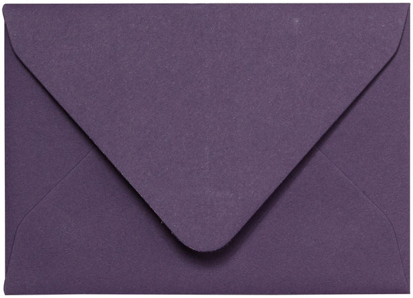 A-2 Dark Purple Solid Euro Flap Envelopes (4 3/8
