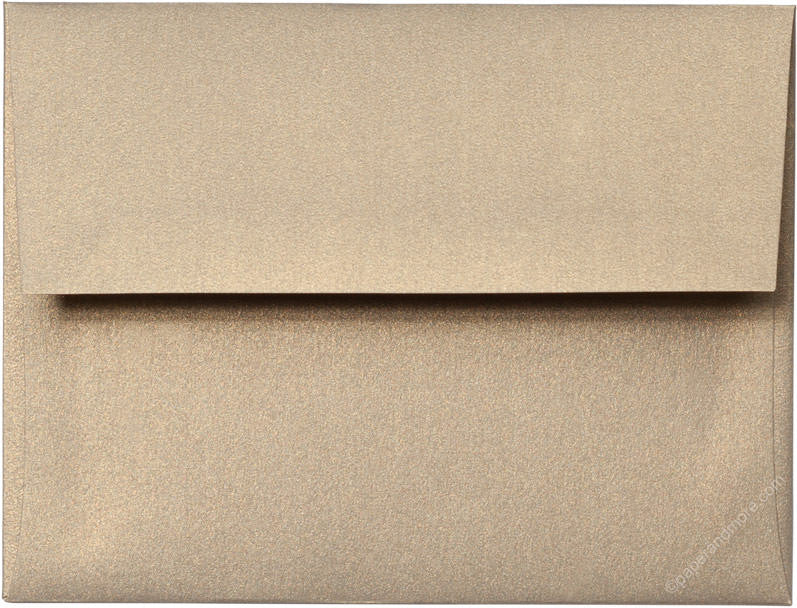 "A-2 Gold Leaf Metallic Envelopes (4 3/8"" x 5 3/4"")"
