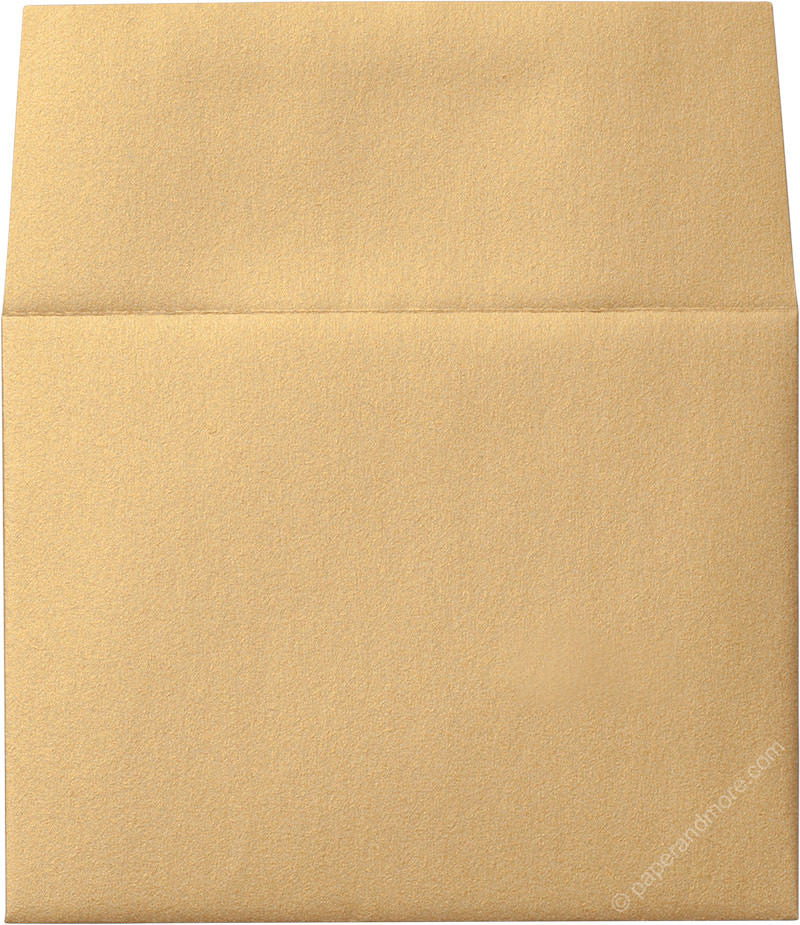 "A-2 Gold Metallic Envelopes (4 3/8"" x 5 3/4"") - Paperandmore.com"